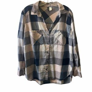 Divided by H&M flannel plaid shirt size 12